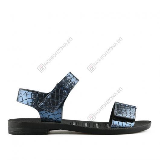 Сини дамски ежедневни сандали Cecilia