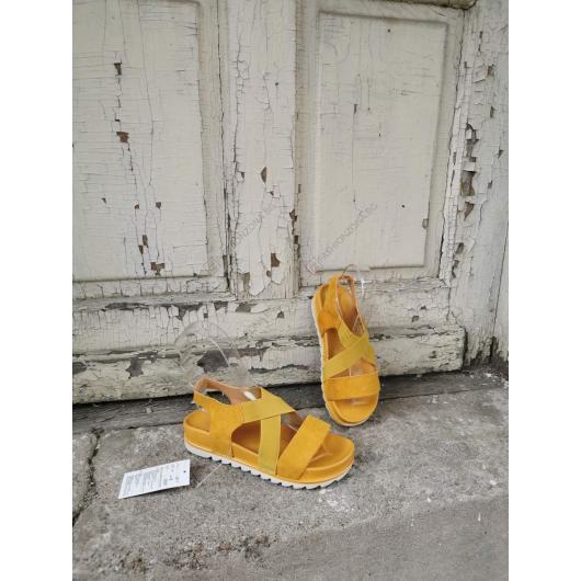 Жълти дамски ежедневни сандали Candela