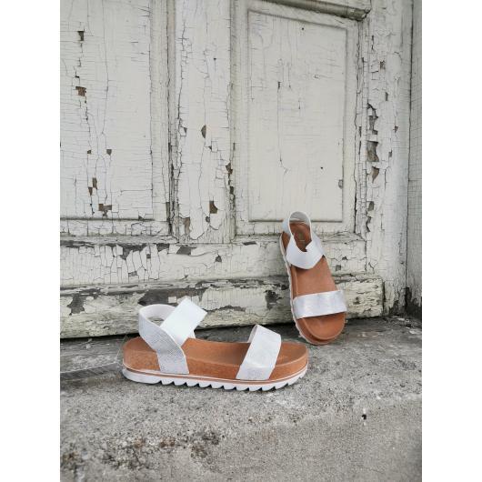 Бели дамски ежедневни сандали Luciana