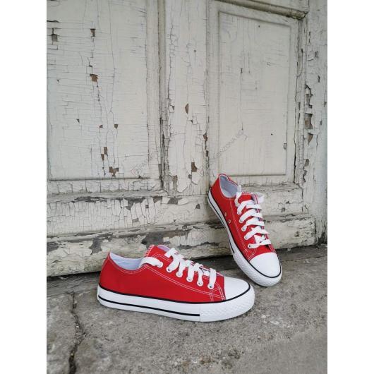Червени дамски ежедневни обувки Tavia