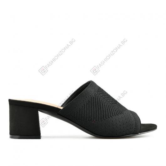 Черни дамски елегантни чехли Ida