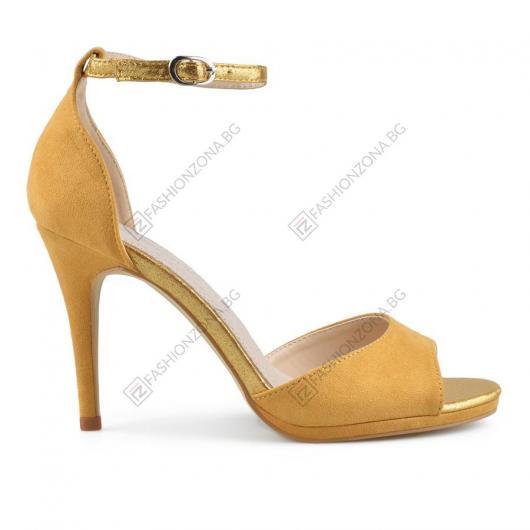 Жълти дамски елегантни сандали Silvia
