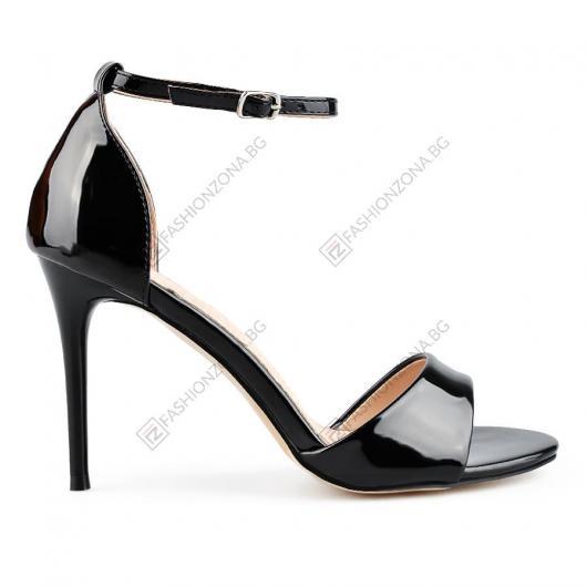 Черни дамски елегантни сандали Ludovica