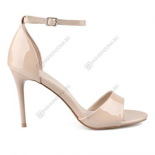 Бежови дамски елегантни сандали Nevada