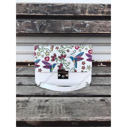 Бяла дамска ежедневна чанта Sancha