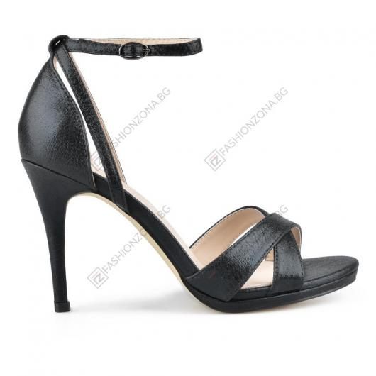 Черни дамски елегантни сандали Cama