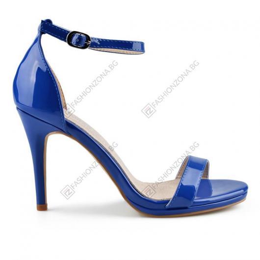 Сини дамски елегантни сандали Lina