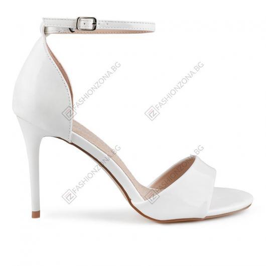 Бели дамски елегантни сандали Evetta