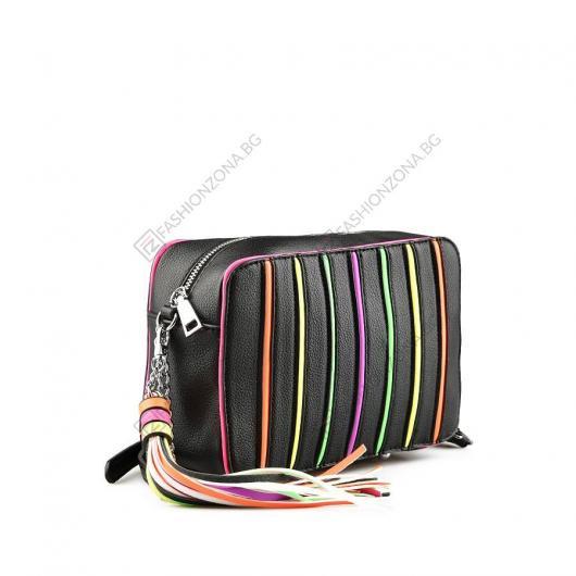 Черна дамска ежедневна чанта Licha