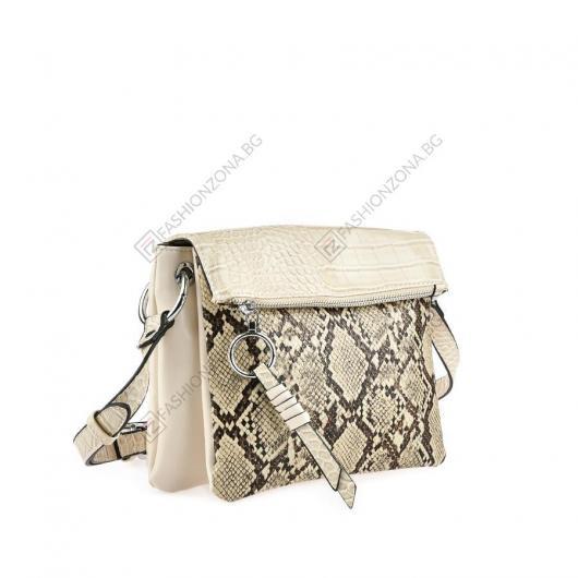 Бежова дамска ежедневна чанта Ilaria
