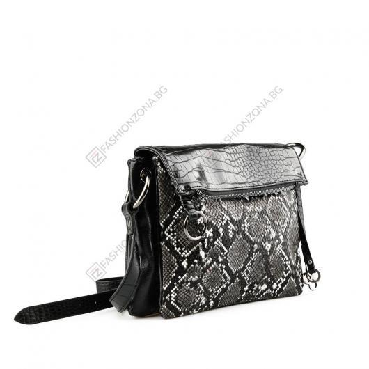 Черна дамска ежедневна чанта Llora