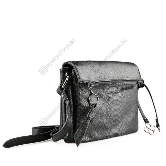 Черна дамска ежедневна чанта Eleanora
