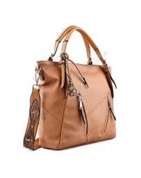 Кафява дамска ежедневна чанта Luminosa