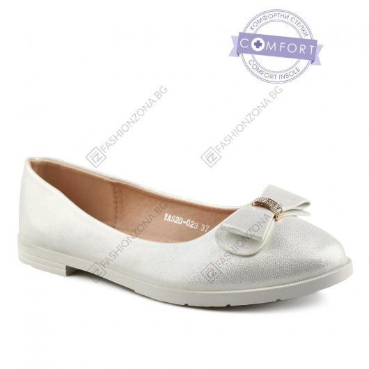 Бели дамски ежедневни обувки Leire