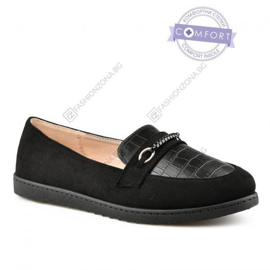 Черни дамски ежедневни обувки Nevara