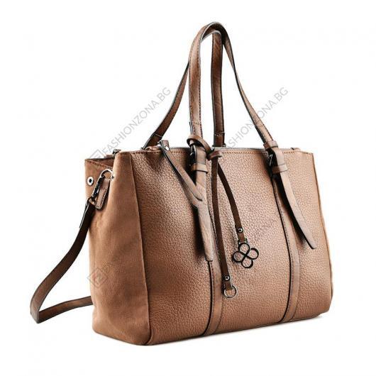 Кафява дамска ежедневна чанта Iolanda