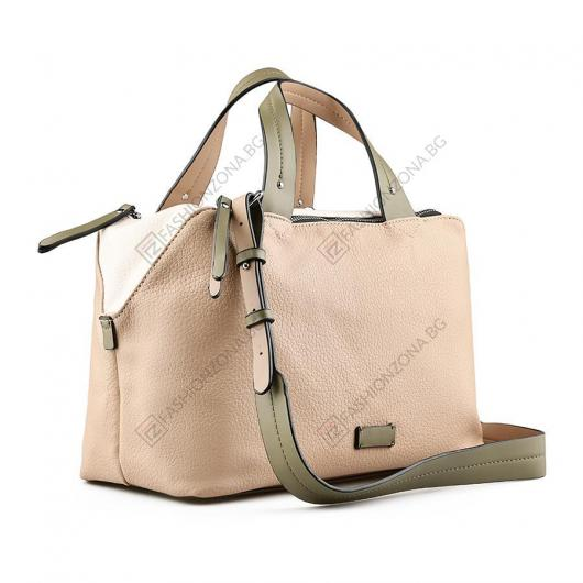 Бежова дамска ежедневна чанта Pina