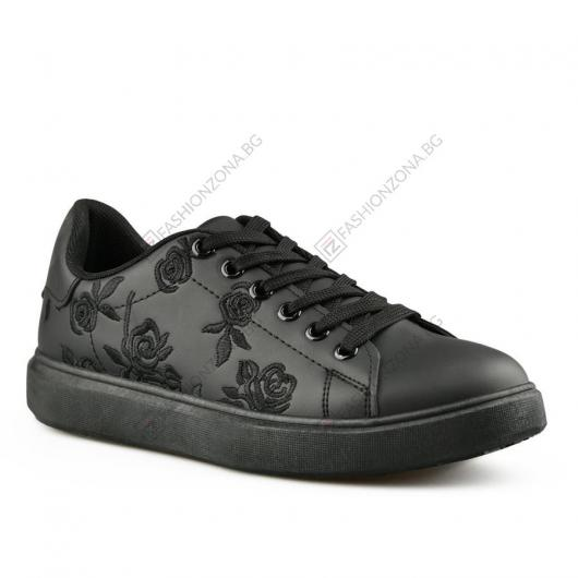 Черни дамски ежедневни обувки Colombina