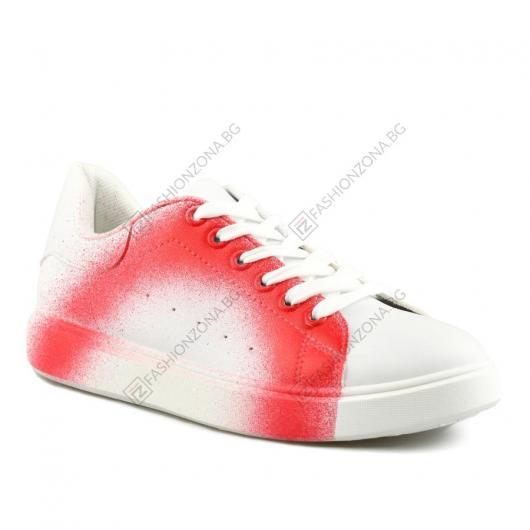 Бели дамски ежедневни обувки Ginata