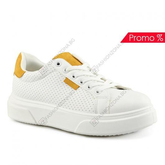 Бели дамски ежедневни обувки Iola