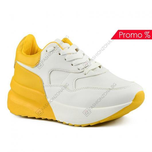 Бели дамски ежедневни обувки Sandra