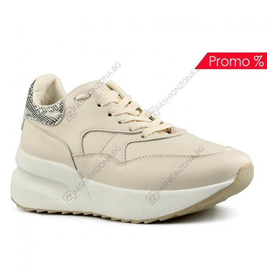 Бежови дамски ежедневни обувки Cayetana