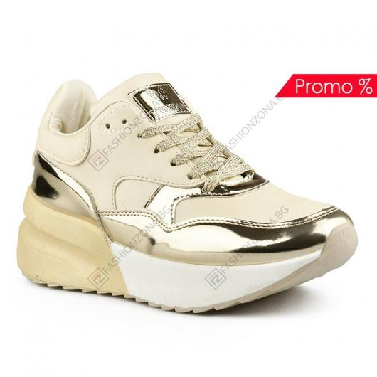 Бежови дамски ежедневни обувки Emelda