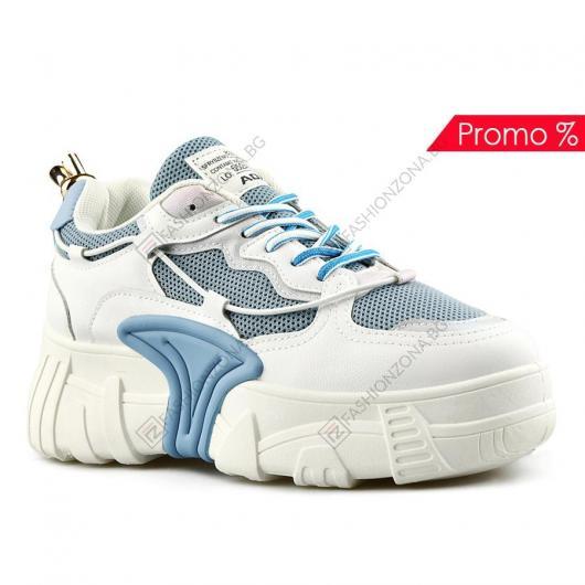 Бели дамски ежедневни обувки Rosita