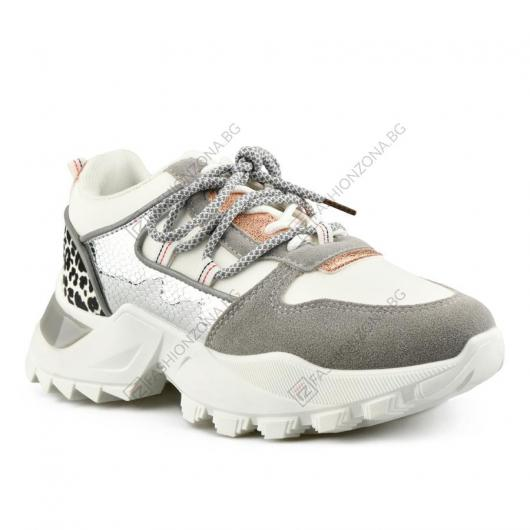 Бели дамски ежедневни обувки Chofi