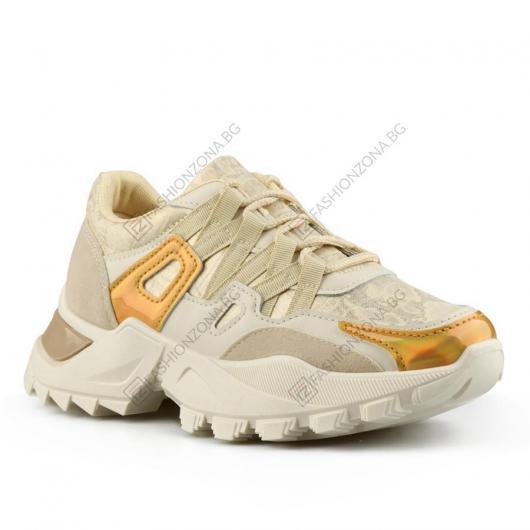 Бежови дамски ежедневни обувки Nenah