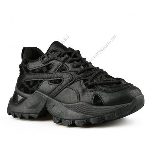 Черни дамски ежедневни обувки Canyon
