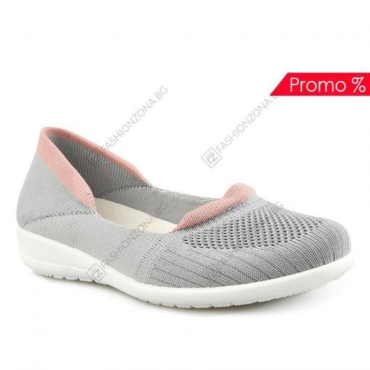 Сиви дамски ежедневни обувки Penelopa