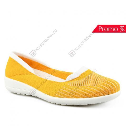Жълти дамски ежедневни обувки Olga