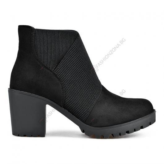 Черни дамски ежедневни боти Tomasine
