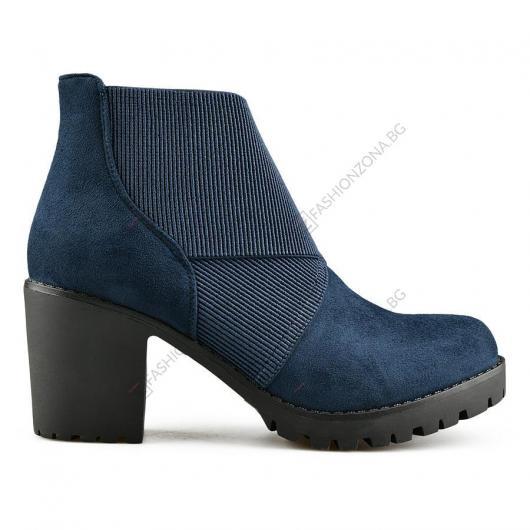 Сини дамски ежедневни боти Laurensa