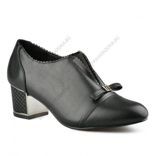Черни дамски елегантни обувки Cruz