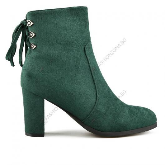 Зелени дамски елегантни боти Giulietta