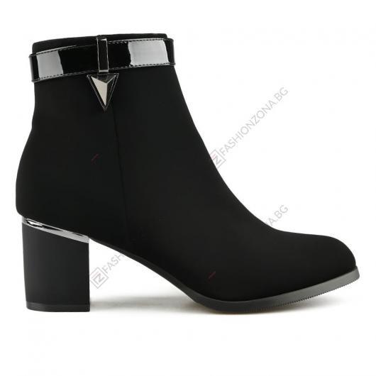 Черни дамски елегантни боти BiancaMaria