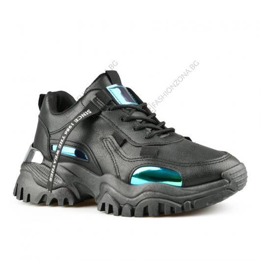 Черни дамски ежедневни обувки Apolonia