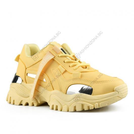 Жълти дамски ежедневни обувки Flavia