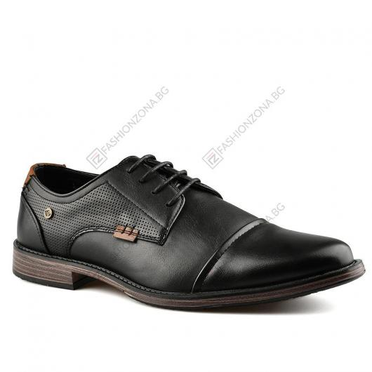 Черни мъжки ежедневни обувки Huguito