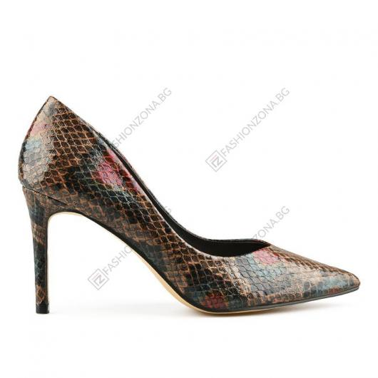 Кафяви дамски елегантни обувки Annetta
