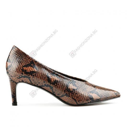 Кафяви дамски елегантни обувки Luigina