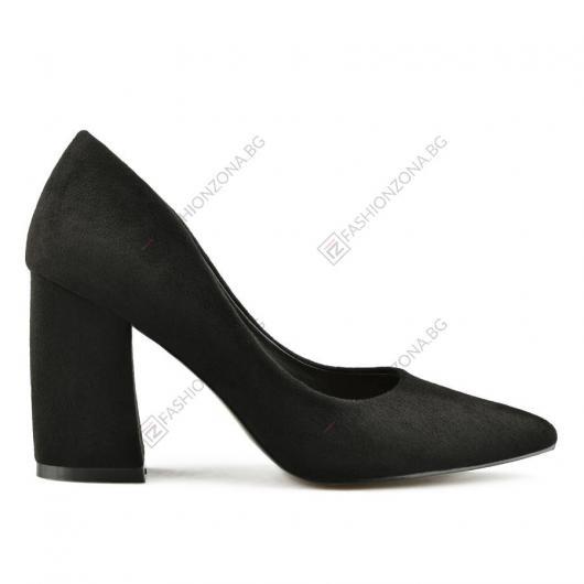 Черни дамски елегантни обувки Cloe
