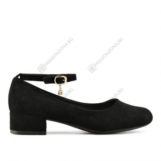 Черни дамски ежедневни обувки Stefani