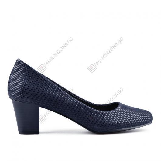 Сини дамски елегантни обувки Griselda
