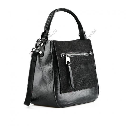 Черна дамска ежедневна чанта Paoletta