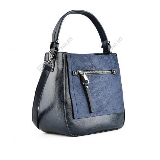 Синя дамска ежедневна чанта Letizia