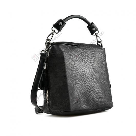 Черна дамска ежедневна чанта Ornella