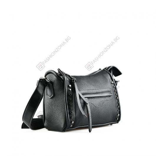 Черна дамска ежедневна чанта Patrizia